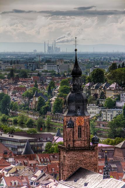 Über den Dächern von Heidelberg / Above Heidelberg (300°)