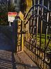 Church gate shadows
