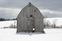 This barn is no longer standing in this location