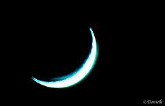 La lune avec du bleu...