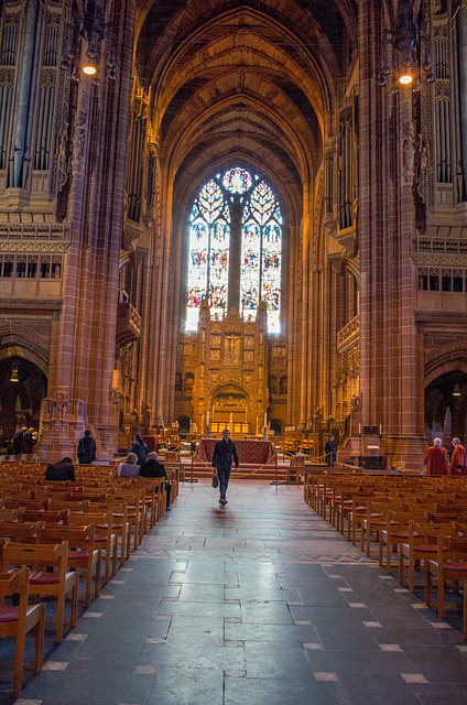 Interior of the Anglican Cathedral, c4Liverpool