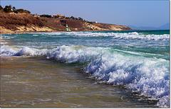 Wzburzony ocean.