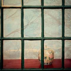 inside the green window