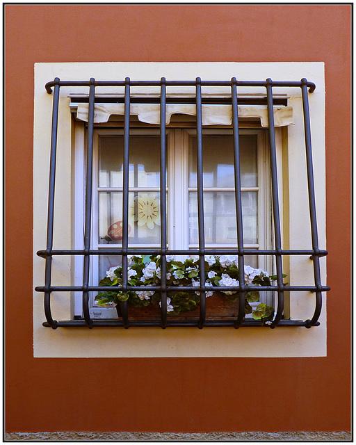 Boccadasse : Finestra al piano terra, ospitale ma anti-intrusione. (880)