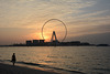 U.A.E., Dubai Eye at Sunset