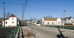 View of residential life in the inner city of Muncie.