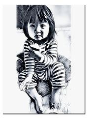 petite fille à la pomme
