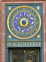bracken house clock, cannon street, london