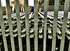 Upright Fences and Stacked Up Fencing