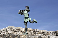 """Girl on Roller Skates"" – Artists' Village, Ein Hod, Haifa District, Israel"
