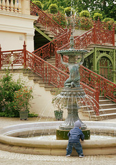Brunnen in der Orangerie..