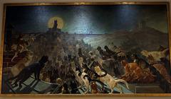 L'Apothéose des Chats à Montmartre . Peinture de Théophile-Alexandre Steinlen ( 1905 )
