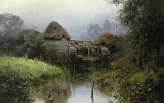 Vieux moulin à aubes
