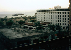 View from the hotel to the Gulf of Aqaba.
