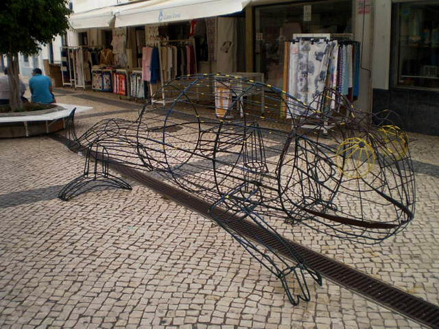 Sculpture of chameleon of eastern Algarve.