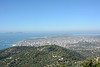 Albania, Overview Vlorë and Adriatic Coast from Mount Shushices