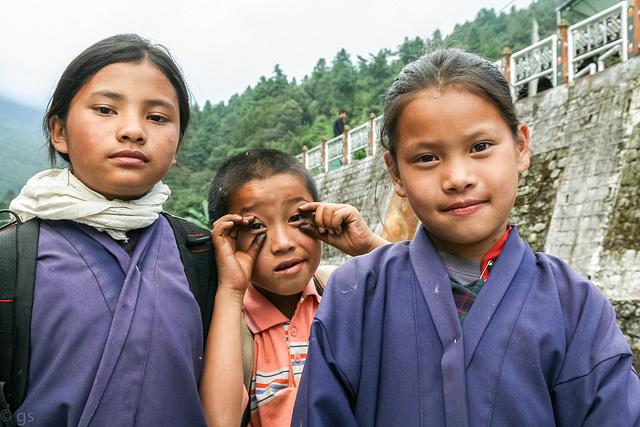 Trongsa school kids
