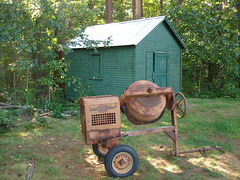 Muller mixer & funeral shed