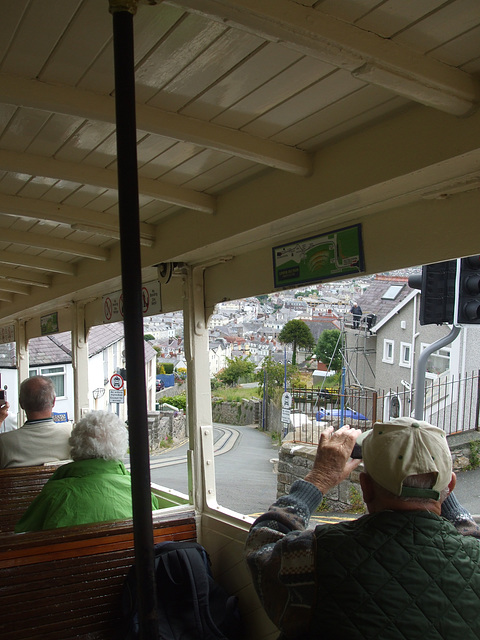 DSCF9881 The rooftops of Llandudno seen from Great Orme Tramway car 4