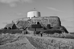 White tower at Fort Grey, Guernsey