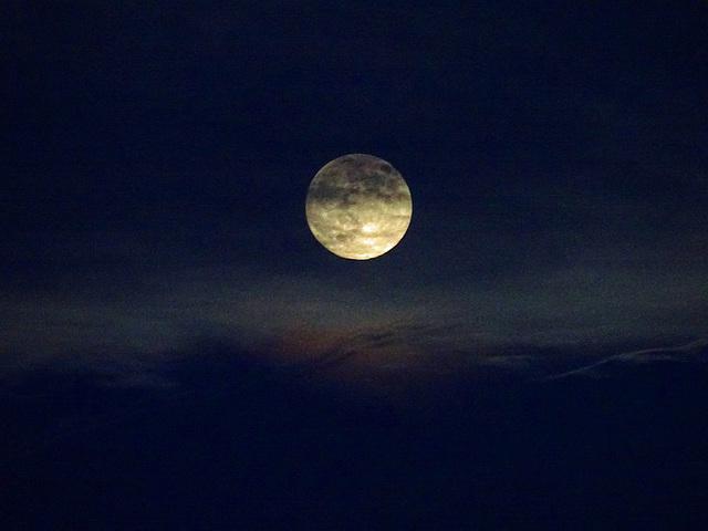 shadowed moon