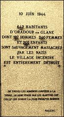 Oradour-sur-Glane (87) 29 septembre 2015.