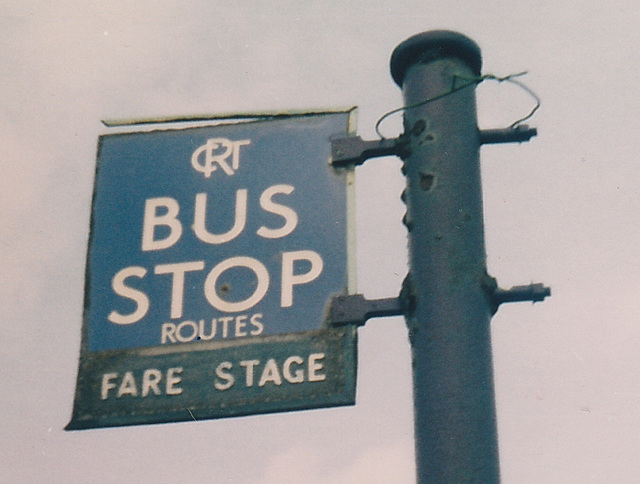 Rochdale Corporation Transport bus stop 1950s era