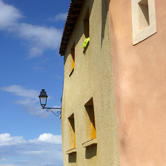 Houses and Lamp
