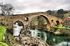 """Ponte """"romana"""" sobre o rio Sela"""
