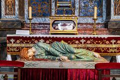 Reliquaire et statue de sainte Cécile