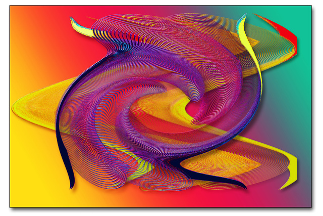 A colourful abstract