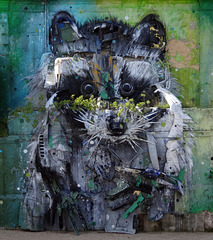 """Big Racoon"" by Bordalo II, Belem, Lisbon."