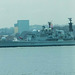 Warship leaving on the River Mersey after the battle of the Atlantic commemoration (3)