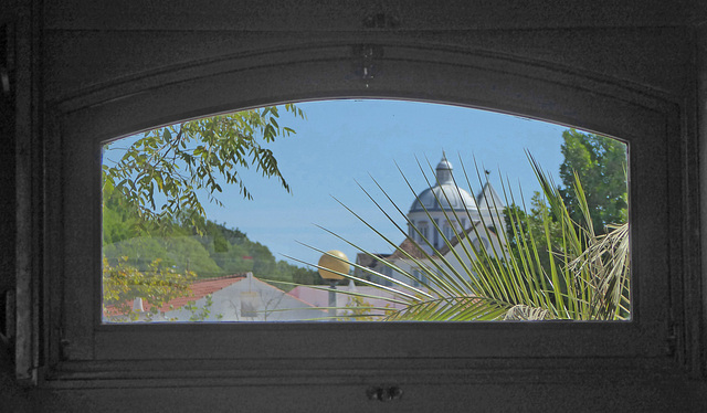 View through window. Castro Marim, Algarve.