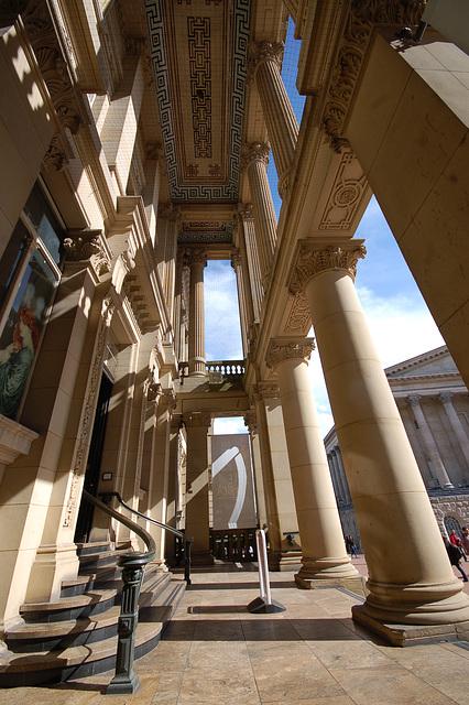 Inside the Portico of Birmingham Art Gallery, Birmingham