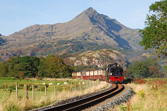 Cnicht and Welsh Highland railway.