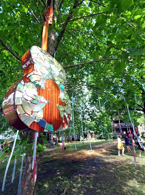 Here, guitars grow on trees
