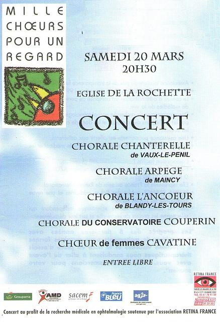 Concert à La Rochette le 20 mars 2004