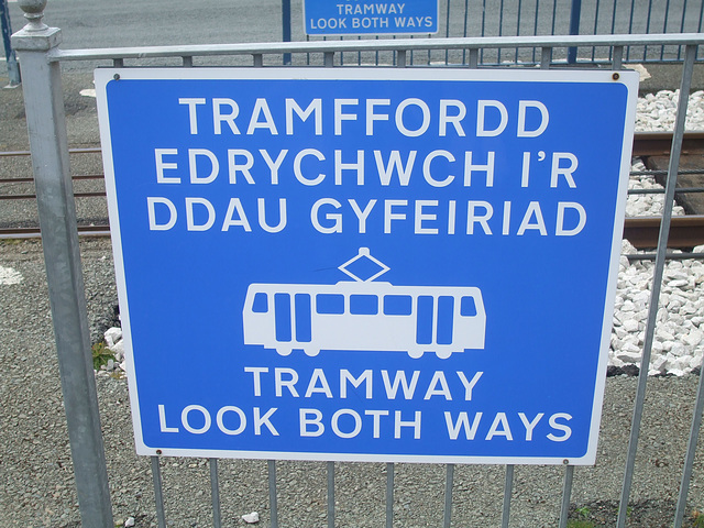 DSCF9839 Sign at Summit Station on the Great Orme Tramway