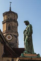 Schillerdenkmal und Stiftskirche (PiP)