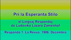 Pri la Esperanta Stilo - el Lingvaj Respondoj de L.L. Zamenhof