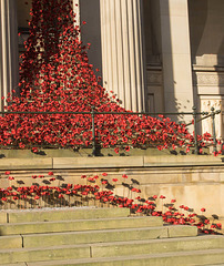 Weeping windows, St Georges Hall, Liverpool.