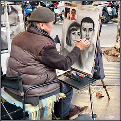 Barcellona : La Rambla - street artist