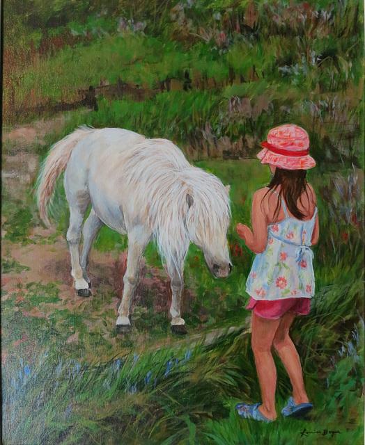 Un ami fidèle huile sur toile 16 x 20