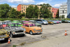 How many Trabi's in this car park?