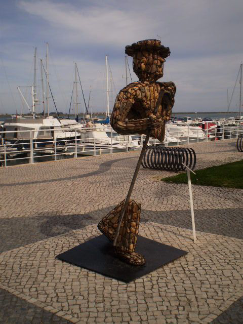 Sculpture of the invisible smuggler.