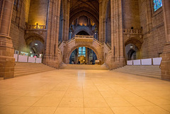 Wide view of the anglican cathedral.