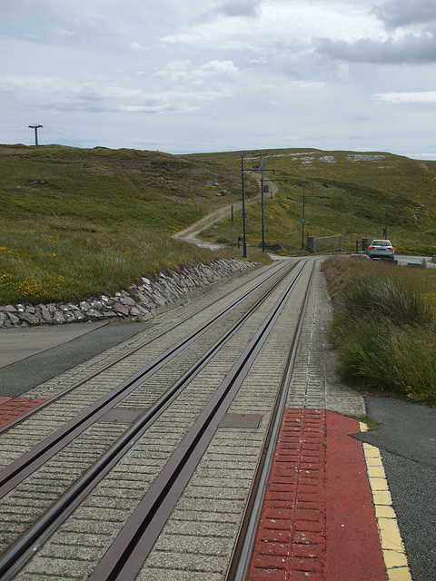 DSCF9828  Track view from Halfway Station on the Great Orme Tramway