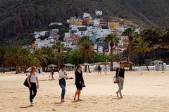 Vier Grazien am Strand von San Andrés