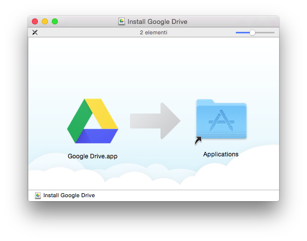 installing Google Drive on my Mac, 2016-05-23
